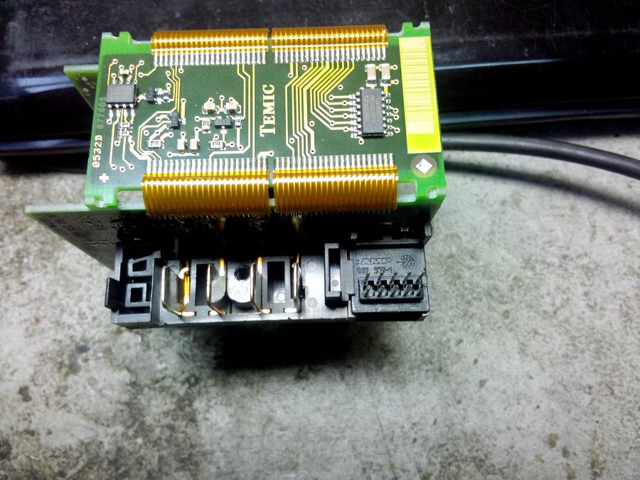ремонт ключа и электронного замка зажигания mercedes EZS